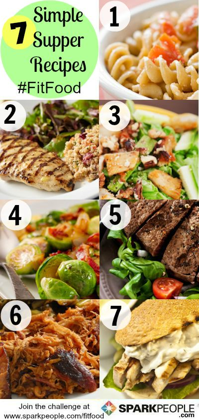 A week's worth of healthy dinners in minutes! This is so smart. Every recipe serves one. You simply double, triple (etc) based on # of people you need to feed. | via @SparkPeople #food #recipe