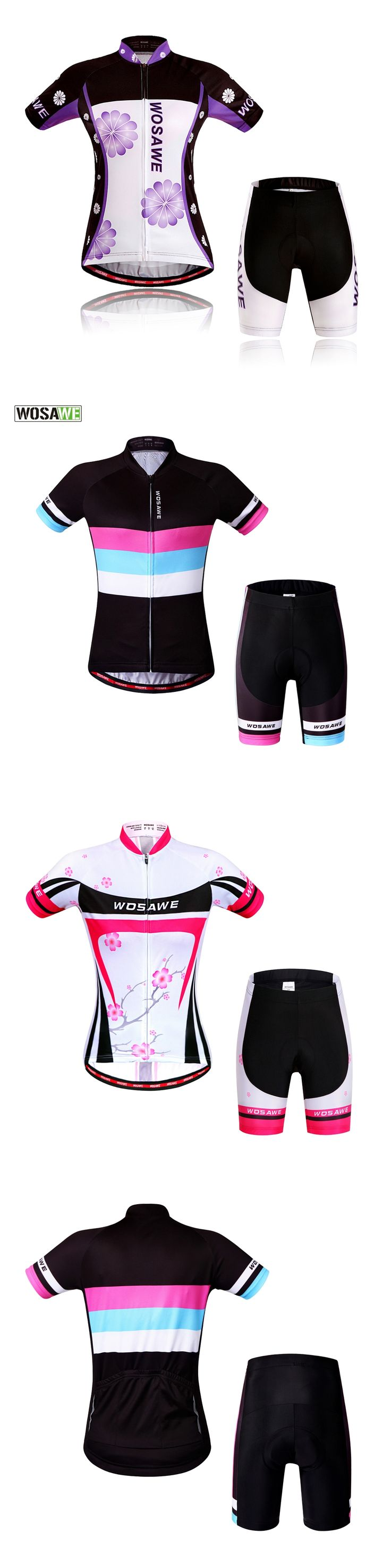 2017 WOSAWE Women MTB Bike Cycling Jersey Set Gel Pads Quick Dry Windproof Profesional Road Mountain Cycling Clothing