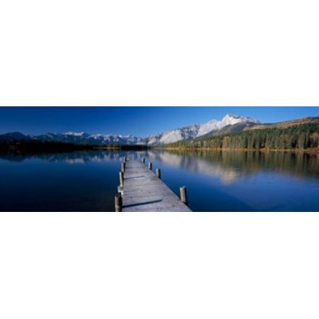 Hector Lake Mt John Laurie Rocky Mountains Alberta Canada Canvas Art - Panoramic Images (37 x 12)