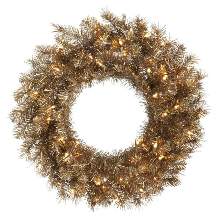 Vickerman Metal Mix Tinsel Pre-lit Wreath - A149137