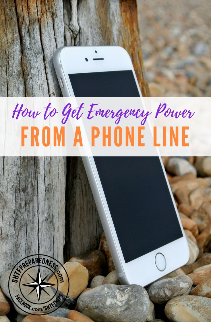 How to Get Emergency Power from a Phone Line — What do you do if the power is out and you need to charge your cell phone to make an emergency phone call? Don't worry. There are plenty of potential power sources all around you. One of them is the phone line. Most of us still have the wires in the house too.