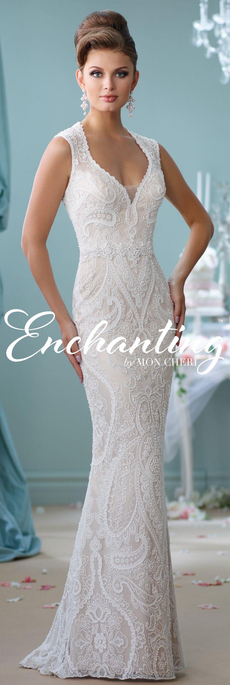 Enchanting by Mon Cheri Spring 2016 ~Style No. 116123 #laceweddingdress