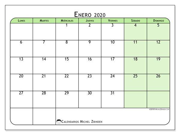Calendario Enero 2020 Colombia.Calendario Enero 2020 65ld Calendario Calendario Julio