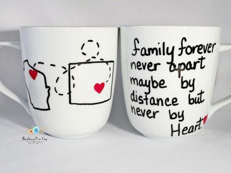 Long distance mug Long distance gifts birthday by Brusheswithaview
