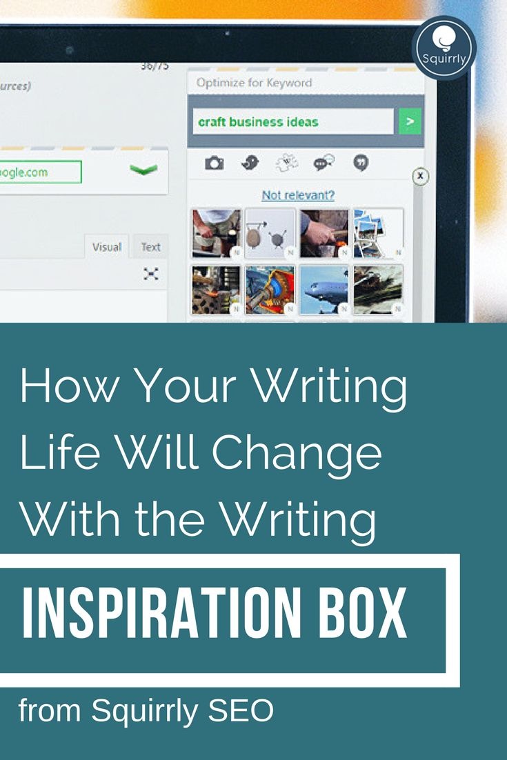 How Your Writing Life Will Change With the Writing Inspiration Box from Squirrly SEO