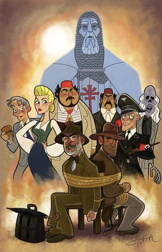 Indiana Jones And The Last Crusade Characters Cartoon.Artists, Illustration, Characterdesign, Stephen Silver, Movie, Character Design, Cartoons, The Secret, Indiana Jones