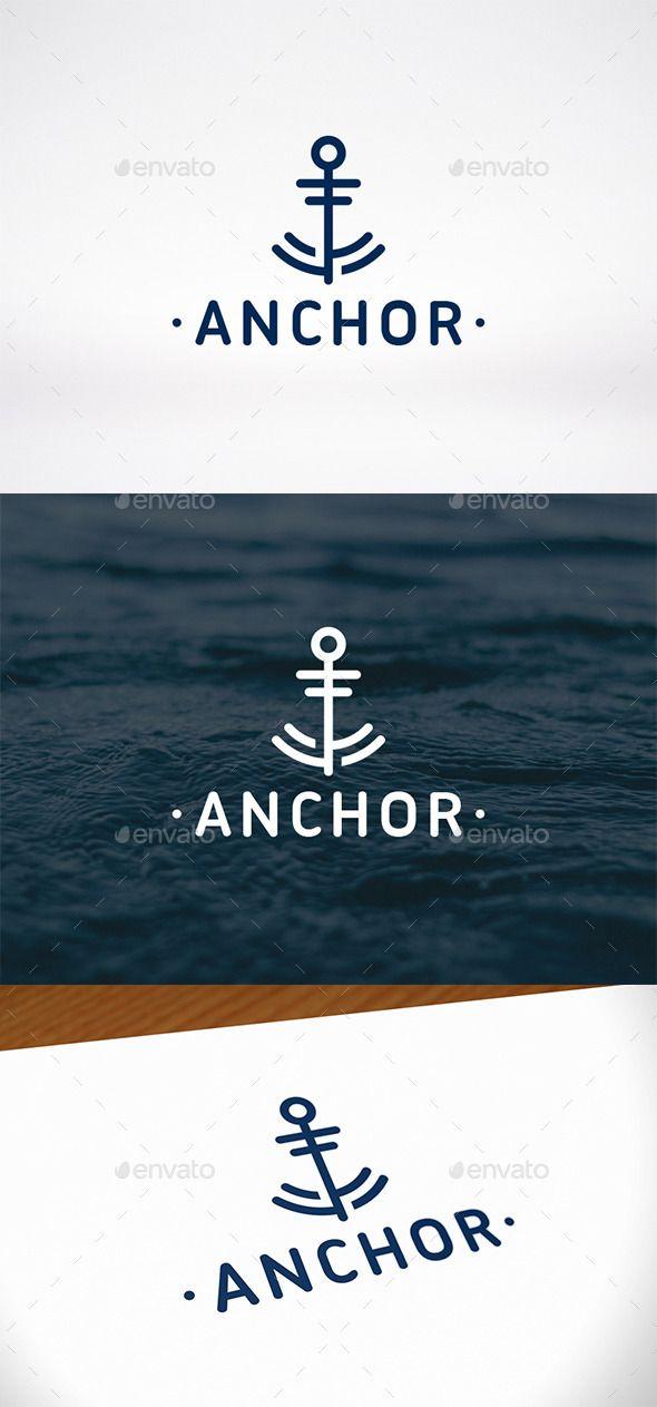#Anchor Mark #Logo Template - #Abstract Logo Templates #Water
