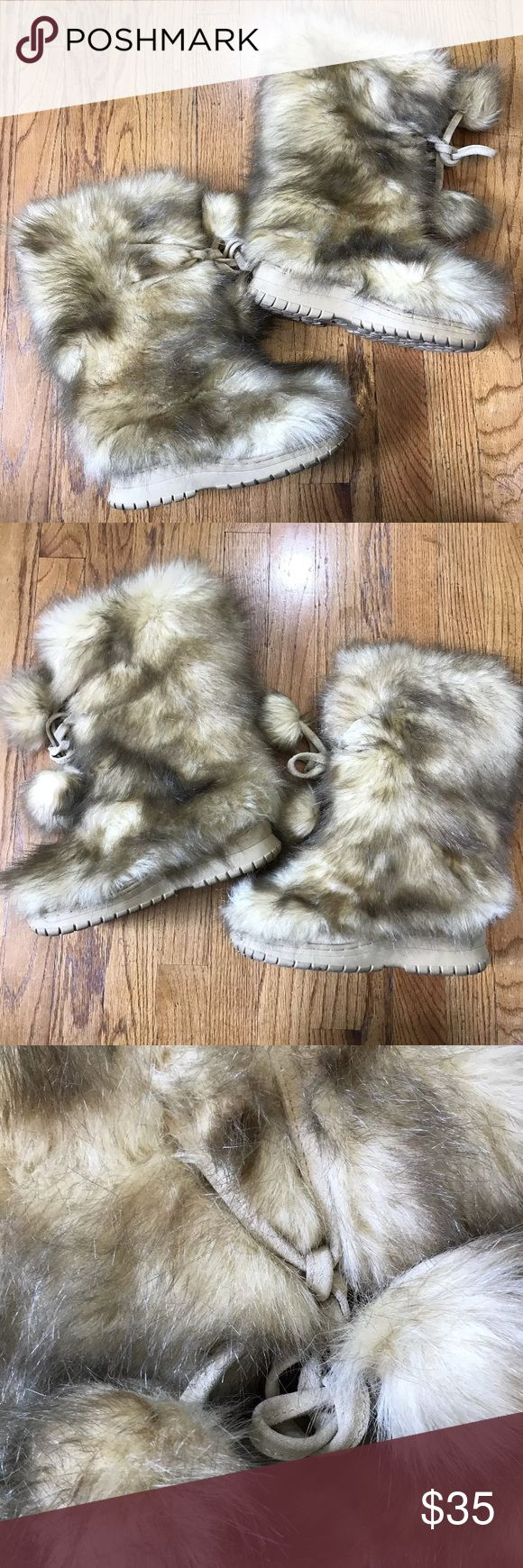 COLIN STUART Tan Faux Fur BOOTS Women's Size 8 Size 8 women's. Used, see photos! Perfect for any collection! Colin Stuart Shoes Winter & Rain Boots