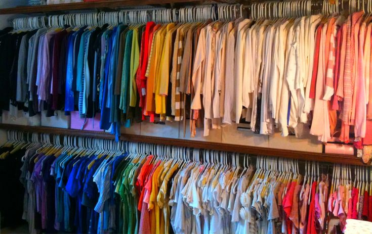 Organizing by color will actually make this annoying thing easier. Sure, you want a rainbow closet because it's effing beautiful, but color-coordinating serves a greater purpose.