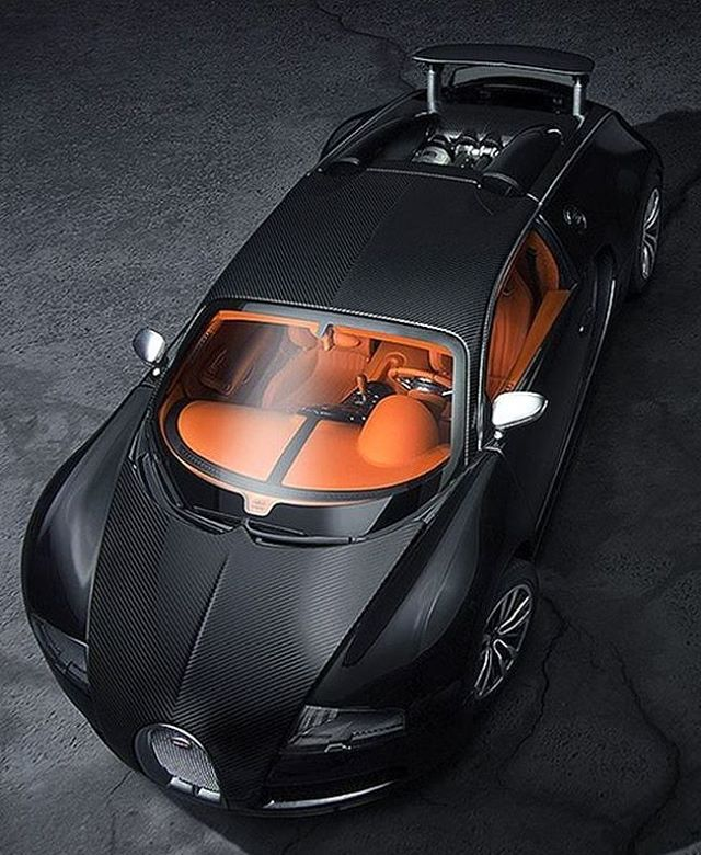 Bugatti Veyron Super Sport Black Orange: Bugatti Orange Interior Black Carbon Fiber