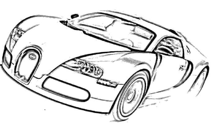 coloring pages of bugatti veyron   Car Bugatti Veyron Sport Coloring Page   Fathers day ...