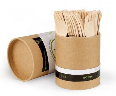 boxes and cartons used to package our biodegradable and compostable wooden cutlery are made from recycled paper product