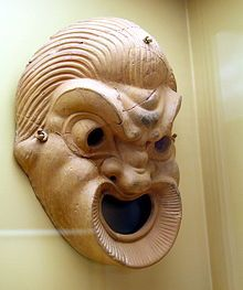 Terracotta comic theatre mask, 4th/3rd century BC (Stoa of Attalus, Athens)