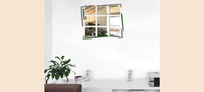 Le miroir mural personnalisable Cadre permet de voir son reflet