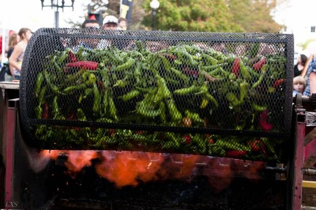 Roasting chilis: The Annual Loaf ?N Jug Chile & Frijoles Festival in Pueblo.