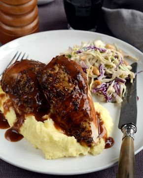 Roast Chicken, Mash and Slaw