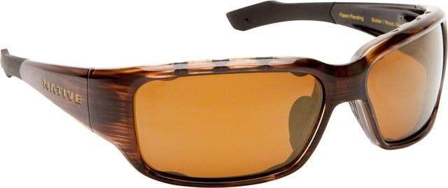 Native Bolder Sunglasses: Wood with Bronze Reflex Polarized Lens