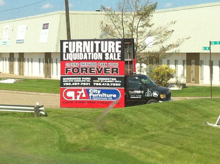 City Furniture used a Mobile Advan to help get the word out for their liquidation sale #alternativeadvertising #outofhomemarketing #outdooradvertising #mobilebillboard