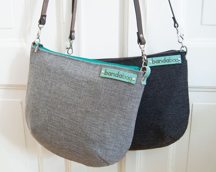 https://www.facebook.com/bandabag MIX series these are small colorful handbags. Crossbody bag made from thick, solid, strong woven fabric. Adjustable genuine leather strap in grey and accents of turquoise color. Wear crossbody or over the shoulder. Lining made of cotton linen includes a small comfortable zipper pocket. Bag is closed on zipper. The whole padded fleece.