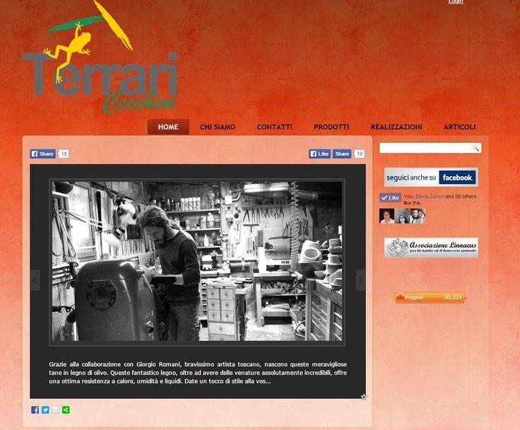 Terrari Cecchini sito web: www.terraricecchini.it