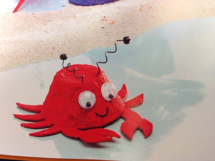 Meerestier Krabbe aus Eierkarton