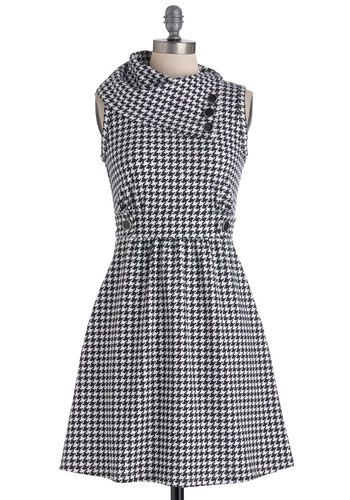 Coach Tour Dress in Houndstooth, #ModCloth