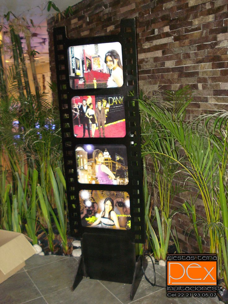 Panel Fotográfico para tu fiesta temática Hollywood con tus fotos favoritas!!!