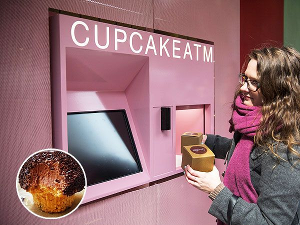 An ATM that dispenses cupcakes!