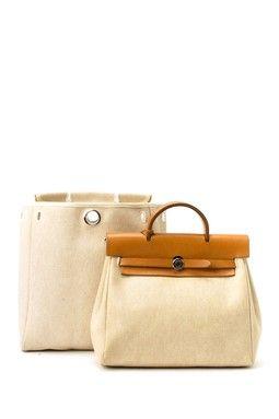 Vintage Hermes Cotton Herbag Sac A Dos Stamp Square D Travel Bag ...