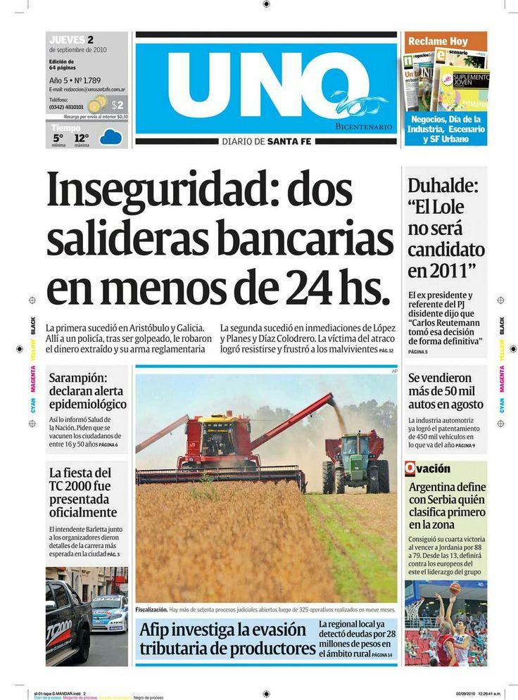 Diario Uno ( Santa Fe - Argentina )