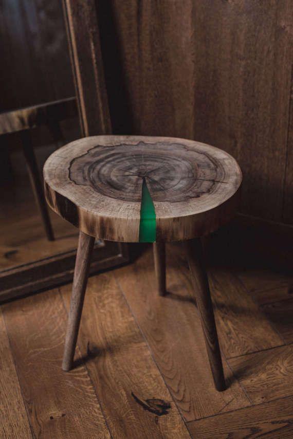 Wallnut coffee table by PeterFoxCraft on Etsy
