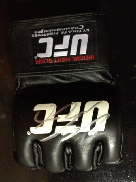 Fight Museum Store - Clay Guida signed Official UFC Glove, (http://www.fightmuseumlv.com/clay-guida-signed-official-ufc-glove/)