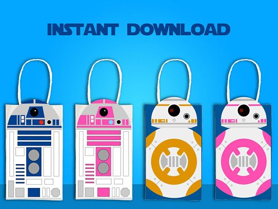 Star Wars R2D2 & BB8 Party Favor Bag Printable Star Wars