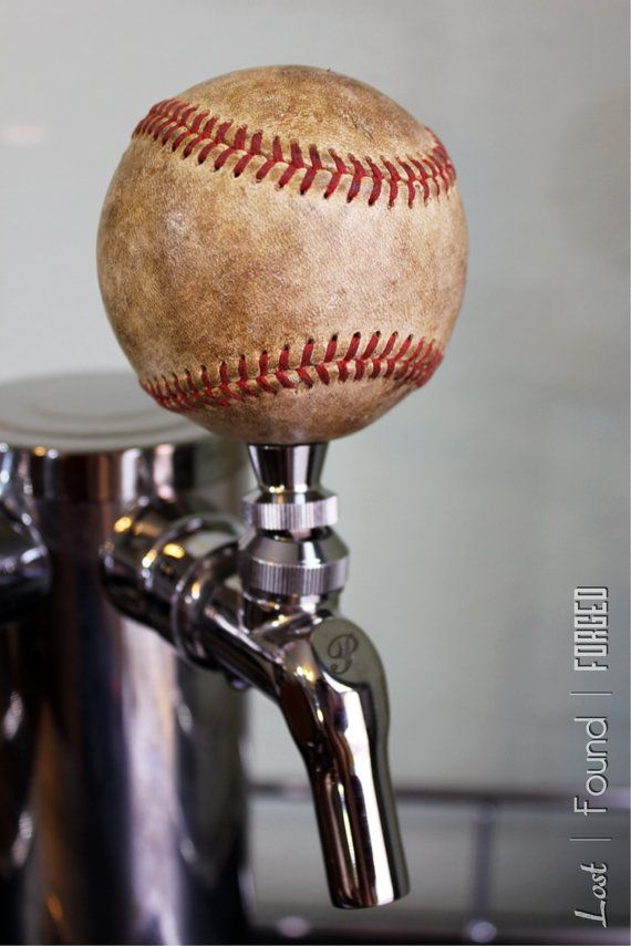 Repurposed Baseball Beer Tap Handle by LostFoundForged on Etsy