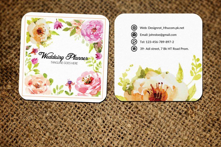 Wedding Decorator Small Business Card 54738 Business Cards Design Bundles In 2021 Business Cards Creative Business Card Template Design Business Card Design