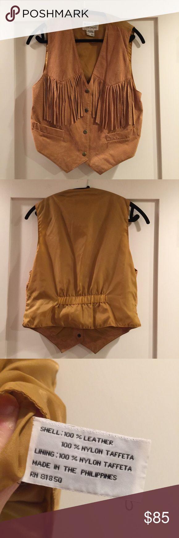 Suede fringe vest (vintage) Super cool vintage vest! Suede with fringe and pockets in the front. Great for festivals or just for whenever. Vintage Jackets & Coats Vests