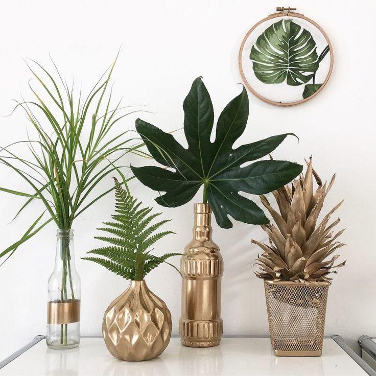 Machen Sie es sich Gold Deko Vasen