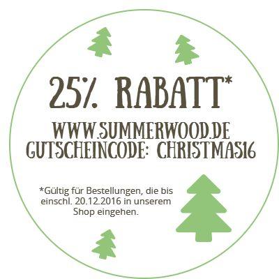 25% Rabatt auf Holzdeko & Wohnaccessoires aus Naturmaterialien - nur für kurze Zeit auf www.summerwood.de/shop