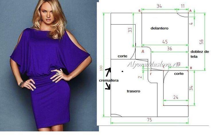 Muito belo e actual este vestido fácil de fazer. O corte deste modelo favorece as linhas do corpo feminino. Use uma seda ou acetinado para confeccionar.
