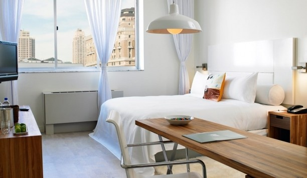 NU Hotel Brooklyn: Brooklyn's NU Hotel is just 20 minutes from the city, but these airy rooms feel worlds away.