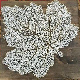 Leaf String Art by heiserNherbert on Etsy