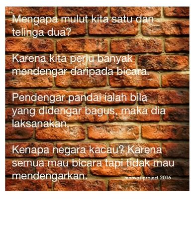 Alumni SMP 119 Jakarta, Angkatan 87, A - Z: Mendengar Versus Bicara