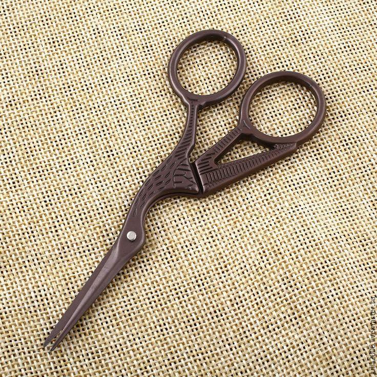 Купить Ножницы в стиле ретро - белый, бронзовый, винтажный стиль, винтаж, для рукодельницы, для рукоделия