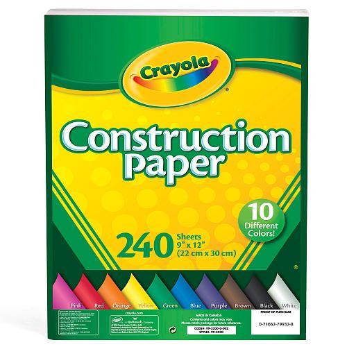 """Crayola Construction Paper - 240 Pieces -  Crayola - Toys""""R""""Us"""
