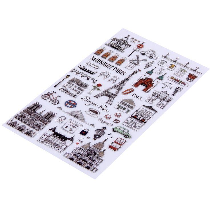 Black PVC  Sticker For Scrapbook Calendar Diary Planner Sticky Photo Album Decor Kids Children scrapbooking diary kawaii gift