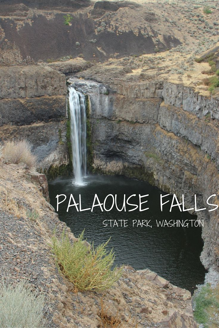 Palaouse Falls State Park in Eastern Washington. Beautiful waterfall, and a great stop on a road trip through Washington. Travel / Hiking / Bucket List