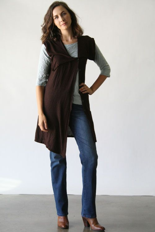 Product Image: Asymmetrical Vest Melange in Cut Loose Clothing: Cut Loose Fall 2014