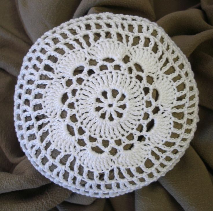 Bun Cover Hair Net Size Medium Hand Crocheted Flower Style
