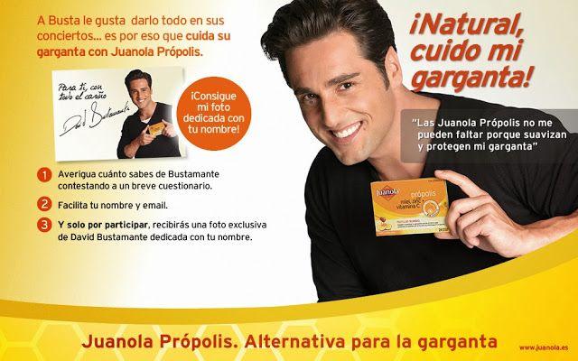 Solicita tu foto dedicada a tu nombre de David Bustamamente totalmente gratis gracias a esta promoción de Juanola.  Promoción válida para España hasta 15/03/2014.  Más información aquí: http://www.baratuni.es/2013/12/regalos-gratis-foto-dedicada-david-bustamante.html  #regalos #regalosgratis #regalosgratuitos #regalosdirectos #davidbustamante #baratuni