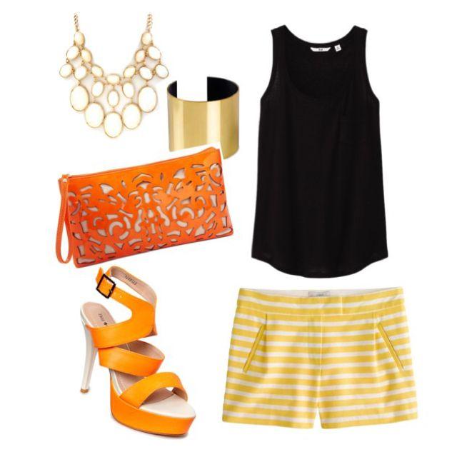 Stripes and orange